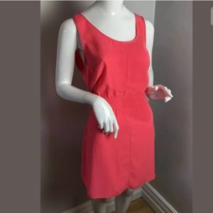 Wilfred bright pink mini dress L elastic w…